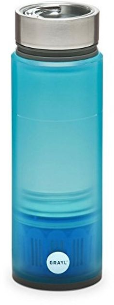 New GRAYL INC Quest Water Bottle, With Tap Filter Blue #GRAYL