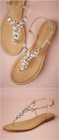 b21c1cfee Sandals Summer Every Bride Will Love to Wear These Wedding Flat Sandals -  There is nothing more comfortable and cool to wear on your feet during the  heat ...