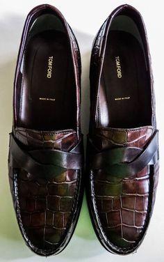 NIB $12540 TOM FORD Alligator Crocodile Leather Shoes Loafers US 10 EU 43 #TOMFORD #LoafersSlipOns