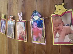 Winnie the Pooh 12 Month Photo Banner by TheCraftyGodMother
