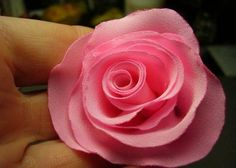 DIY Small Pink Fabric Rose