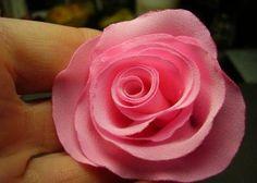 DIY Small Pink Fabric Rose