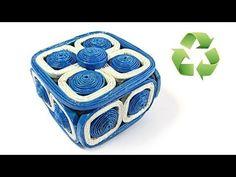 Como hacer cestas de periódico con tapa. Newspaper basket with top. - YouTube