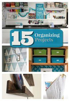 Great Ideas -- 15 Organizing Projects! #DIY #organizing