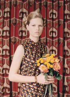 Anna Ewers by Venetia Scott for W Magazine May 2015 - Saint Laurent