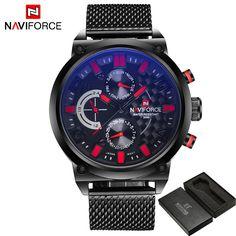 US $93.30 - Luxury Brand Naviforce Men Stainless Steel Analog Watches Men's Quartz 24 Hours Date Clock Man Fashion Casual Sports Wirst Watch