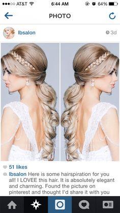 Bridal hair.. Half up half down