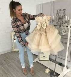 Hadley dress in champagne makes us want to celebrate 🍾 in stock and ready to ship 📦 order 🛒 ittybittytoes com worldwide delivery ✈️ Baby Girl Party Dresses, Birthday Dresses, Gowns For Girls, Girls Dresses, Little Girl Fashion, Kids Fashion, Little Girl Dresses, Flower Girl Dresses, Lace Flower Girls