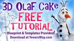 This is a free full length tutorial on how to make an Olaf cake. Download the blueprint and templates for free at the following link... http://www.yenersway....
