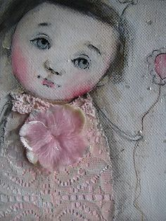 Sooooo sweet! On eBay now! FadedWest, Karen Milstein, Artist. Love her art.