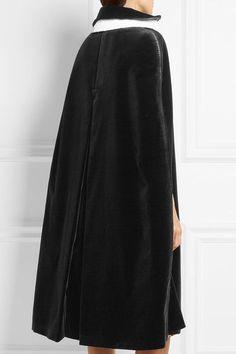 Prada - Cotton-trimmed Velvet Cape - Black - IT38