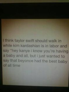 Not a fan of Taylor Swift, but this definitely made me giggle.