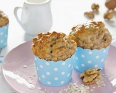How To Make These Banana Oatmeal Breakfast Muffins - Afternoon Baking With Grandma Oatmeal Breakfast Muffins, Banana Breakfast, Healthy Muffin Recipes, Healthy Muffins, Yummy Recipes, Healthy Food, Muffins Sains, Morning Glory Muffins, Homemade Muffins