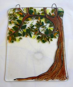 Fused Glass Tree Hanging DLC Glass Studio LLC - $25.00 - Handmade Crafts by DLC Glass Studio, LLC
