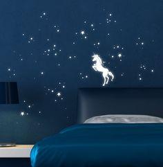 unicorn with luminous stars http wallartkids wall