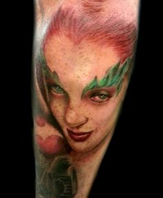 Ivy Tattoo #batman #portrait #realism: Poisons Ivy Tattoo Poison Ivy ...