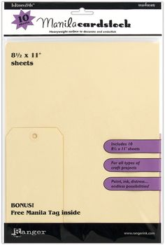 "8.5"" X 11 Inkssentials Manila Surfaces 10/Pkg ISM28246 - Stamps"