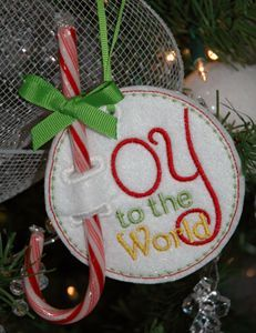 In The Hoop :: Candy & Treat Holders :: Holiday Candy Cane Holders Set - Embroidery Garden In the Hoop Machine Embroidery Designs