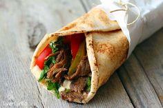 Домашняя мясная шаурма----Shawarma--