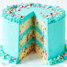 15 Funfetti Recipes That Are Really a Party in Your Mouth | LAYER CAKE | Whip up this speckled confection for a seriously show-stopping dessert. Get the recipe HERE.