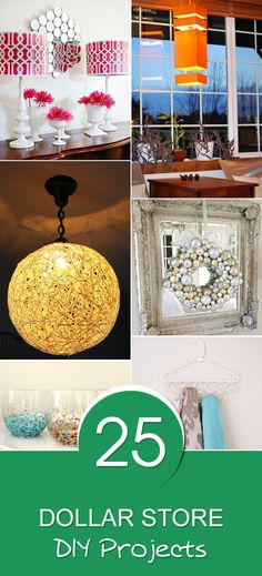 Check out this roundup of really awesome dollar store DIY projects.