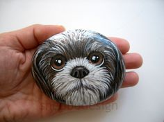 Painted Dog Rock | It was a custom order. I painted it on a … | Flickr