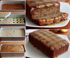 Banana Caramel Upside Down Bread