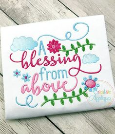 A Blessing From Above, Adoption - 4 Sizes! Creative Appliques