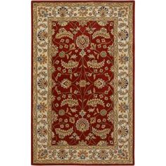 Art of Knot Riverside Wool Area Rug, Red