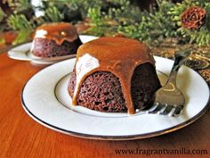 Vegan Chocolate Gingerbread Caramel Lava Cakes
