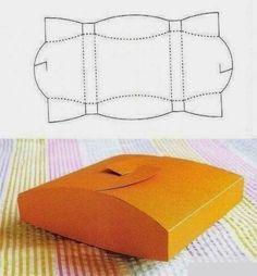 Molde para hacer cajas de regalo de distintos modelos