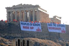 Peoples of europe rise up KKE greece acropolis