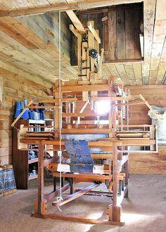 George Wood | 16-shaft dobby + 3 box fly shuttle | 60 cm weave width | double beam