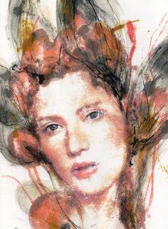 """Saatchi Online Artist Seungeun Suh; Painting, """"Original Art Painting. 15 x 20.3 inch . """"The flutter of heart """""""" #art"""