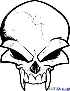 Imagenes De Calaveras Para Dibujar Faciles Estas Por Empezar Un Dibujo De Calaveras Y Queres Empezar Por Algo S Skulls Drawing Cool Skull Drawings Simple Skull