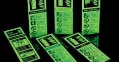 Glow in the dark health and safety signs
