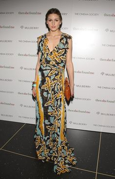 Pin for Later: Olivia Palermo's 55 Best Dresses A gorgeous printed DVF for a New York film premiere in 2008.