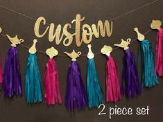 Shimmer and Shine Party Banner Shimmering and Shining Garland, Shimmer and Shine Party Decorations. Tassel Garland - aladino y jasmin - Arabian Party, Arabian Nights Party, 6th Birthday Parties, Birthday Party Decorations, 4th Birthday, Jasmin Party, Shimmer Y Shine, Party Banner, Aladdin Party
