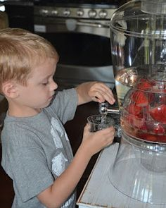 Let kids serve their own water...