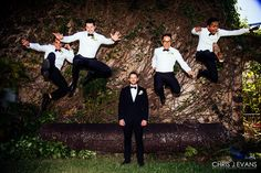 Maui Wedding Photographer Chris J. Evans captures the groom and his groomsmen in action. Visit www.cjevansphotography.com to see more.
