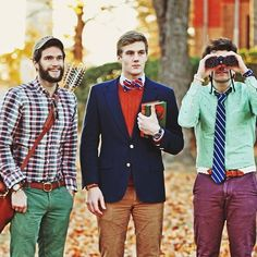 The rugged, the collegiate and the nautical.