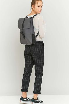Rains Grey Mini Backpack