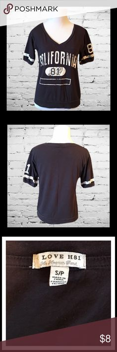 LOVE H81 Short Sleeve Top Gently used LOVE H81 short sleeve top; Size Small.    *****BUNDLE AND SAVE ****** Tops Tees - Short Sleeve