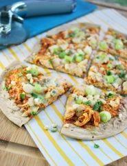 Buffalo Chicken Pizza Recipe - Heart Healthy and Diabetic Friendly!