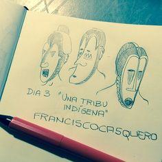 """#RetoDibujoID Día 3 """"Una tribu indígena"""" #ilustración #dibujo #dibujantes #ilustradores"""