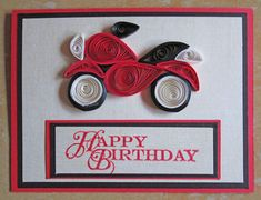 Little quilled presents quilling pinterest quilling paper paper quilling happy birthday card quilled birthday card m4hsunfo
