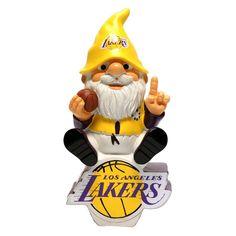 Los Angeles Lakers NBA Gnome On Team Logo