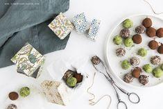 Pralinen - Matcha, Kakao, Mandel - vegan · Time for delights Matcha, Kakao, Vegan, Healthy, Sweet, Food, Almonds, Candy, Essen