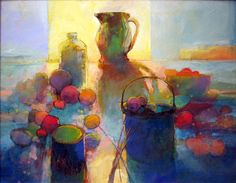 """Contemporary Painting - """"""""STILL LIFE IN INDIGO 891"""""""" (Original Art from MARK GOULD FINE ART)"""
