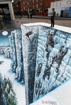 HBO painted The Wall from Game of Thrones on a London street.